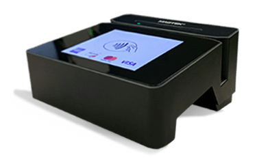 The DynaFlex Pro SCRA comes with a beautiful color touchscreen for easier magstripe, EMV and NFC payments in restaurants and cafes.