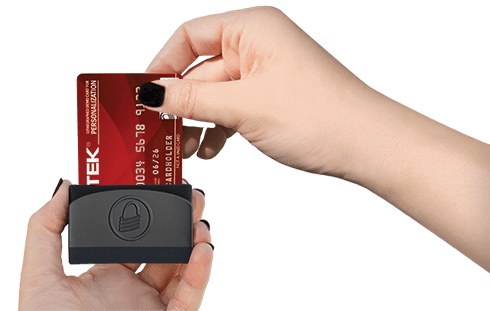 Customers can easily dip their chip cards into the eDynamo card reader for EMV payments.