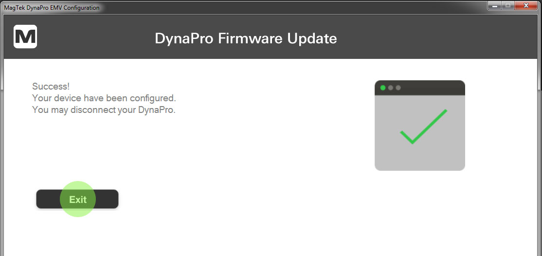 DynaPro EMV Tags have been configured.