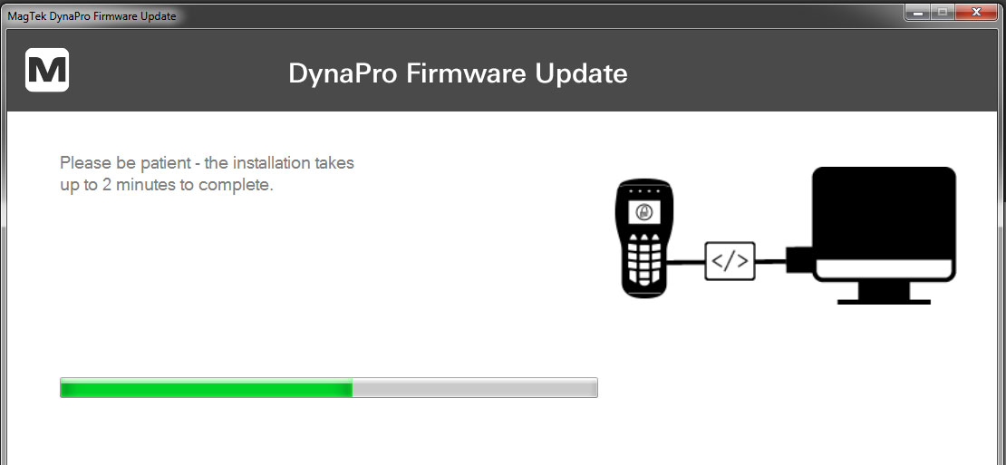Wait until firmware completes update.