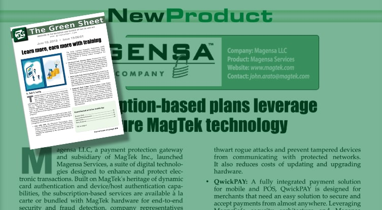 Subscription-based plans leverage secure MagTek technology