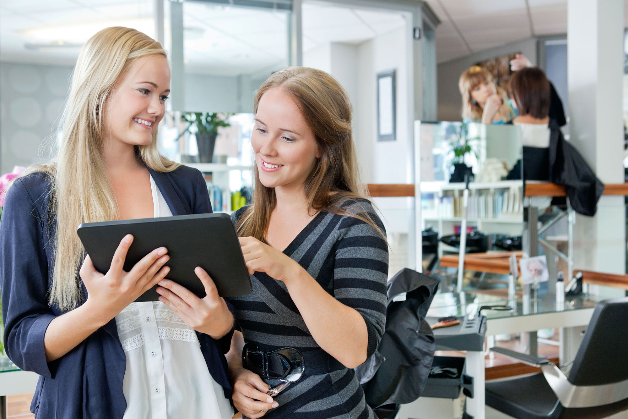 retail solutions that improve the speed and security of payments break from the checkout line
