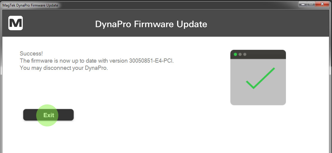 DynaPro Firmware is updated.